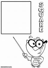 Square Coloring Pages Square1 sketch template