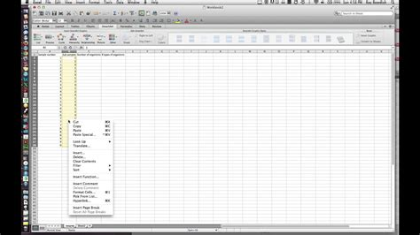 creating a simple data sheet in excel mov youtube
