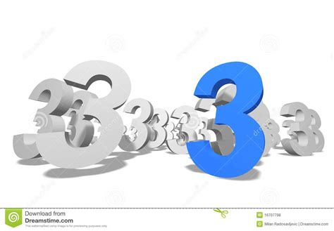 Number 3 In 3d Stock Illustration. Illustration Of Math