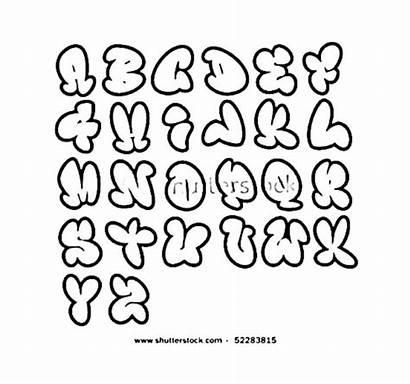 Bubble Letters Alphabet Graffiti Fancy Draw Fonts