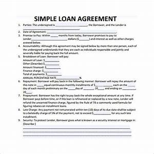 28+ Loan Contract Templates – Pages, Word, Docs   Free ...