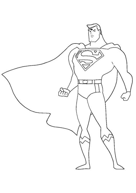 simple superman coloring pages  toddler  love
