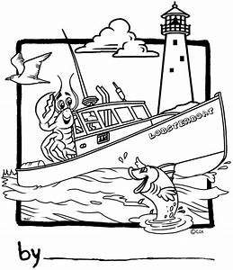 maine lobster coloring page coloring pages With marine wiring books