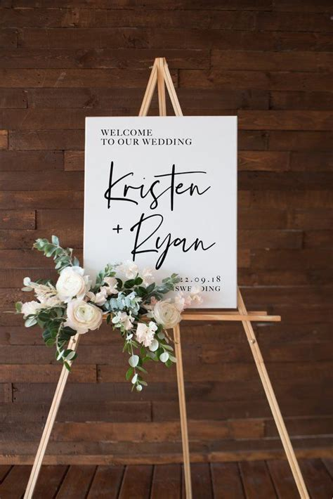 wedding  sign modern printable  sign