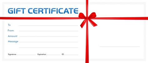 Blank Birthday Gift Certificate Template by Template Blank Gift Certificate Template