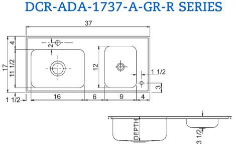 ada compliant stainless steel classroom sinks