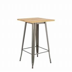 Table Haute Bois : table haute design sklum ~ Melissatoandfro.com Idées de Décoration