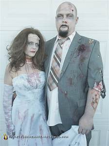 Super Creepy DIY Zombie Bride and Groom Couple Costume