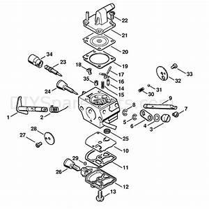 Stihl Bt 120 C Auger  Bt 120 C  Parts Diagram  Carburetor
