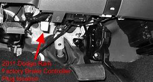 Location Of Brake Controller Connection Point On A 2011