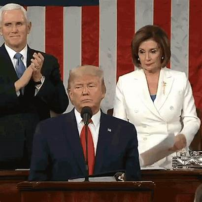 Pelosi Nancy Trump Speech Tearing Donald Rips