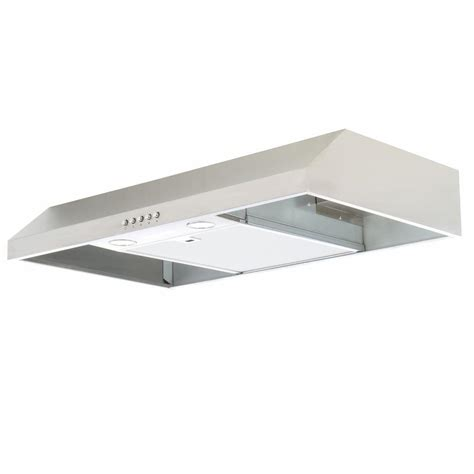 30 stainless steel range hood under cabinet presenza 30 in under cabinet range hood in stainless
