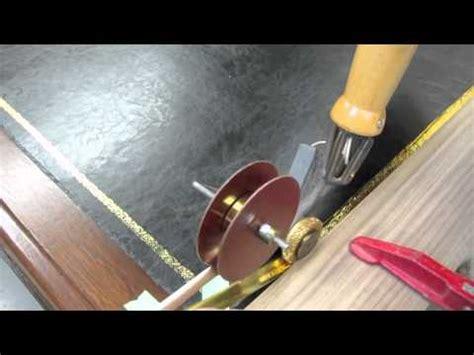 gold tooling leather top desk carrocel restorations