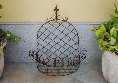Outdoor Wall Planters Wrought Iron by Pattern Iron Wall Planter