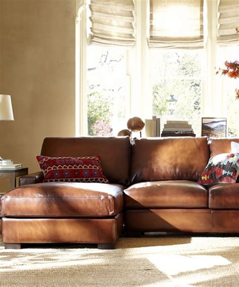 Rustic Sectional Sofa by Leather Chaise Sectional Rustic Leather Sofa