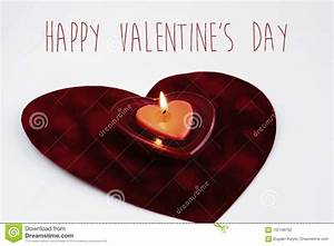 Heart Red Candle Isolated On White Background, Happy ...