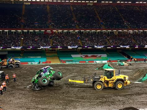 monster jam trucks jaw dropping stunts at monster jam principality stadium