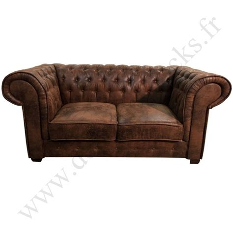 canapé chesterfield 2 places cuir canapé 2 places de type chesterfield en tissu microfibre