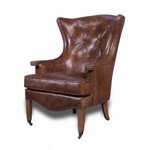 Fauteuil Cuir Marron Vintage : fauteuil oreilles en cuir vintage marron clair capitonn ~ Teatrodelosmanantiales.com Idées de Décoration