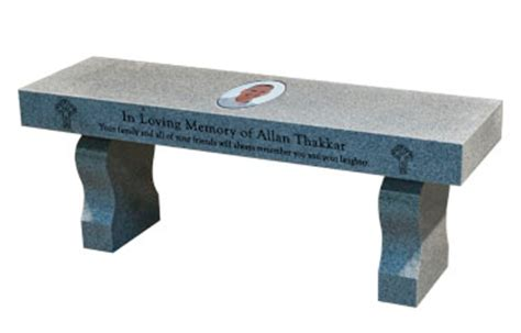 memorial benches granite memorial bench cremation
