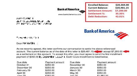 bank of america letter of credit bank of america credit card settlement letter juzdeco