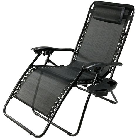 oversized zero gravity lounge chair w pillow cup holder