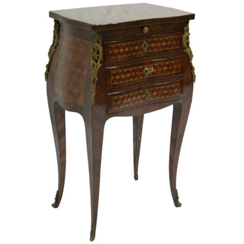 19th century rosewood marquetry chevet table louis