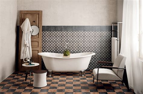 bathroom ideas vintage classic mosaic as vintage bathroom floor tile ideas decolover net