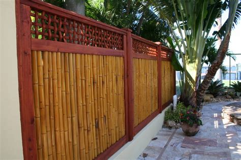 bamboo gate  fencing tropical landscape tampa