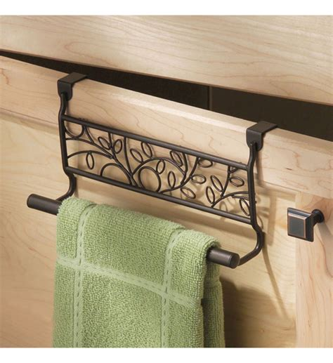 kitchen towel rack twigz kitchen towel holder bronze in kitchen towel holders