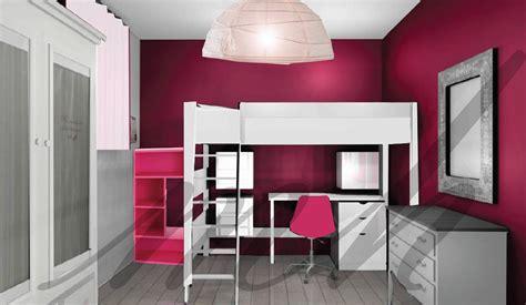 chambre couleur framboise couleurs plus flashy dans la decoration de chambre de