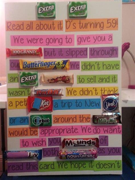 My friend's 40th candy bar card by: 65th candy bar birthday card   just b.CAUSE