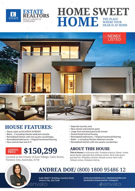 Permalink to Template For Real Estate Flyer
