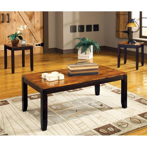 set of two table ls abaco 3 piece occasional tables set two toned acacia