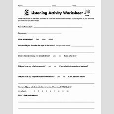 1000+ Images About Listening On Pinterest  Listening Activities, Music And Worksheets