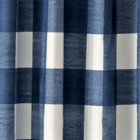 Land Of Nod Blackout Curtains by Buffalo Check Blue 96 Quot Blackout Curtain The Land Of Nod