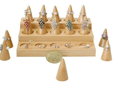 pieces natural wood plain stand cone decorating ring