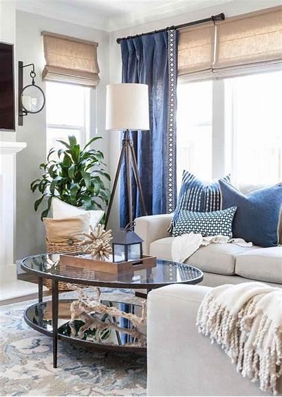 Living Rooms Coastal Accents Denim