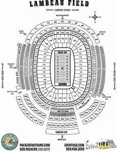 Packers Seating Diagram
