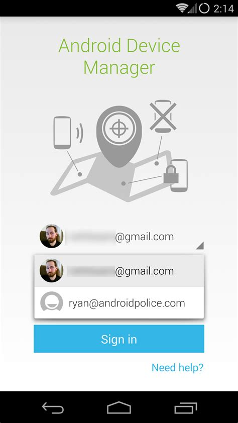 android device manager apk android device manager update adds account password