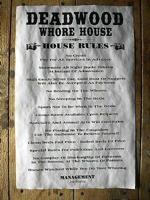 west brothel deadwood whore house rules aged