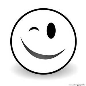 Emoji Face Black and White Coloring Pages