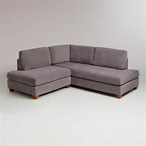 charcoal grey sectional sofa charcoal wyatt sectional With extra small sectional sofa