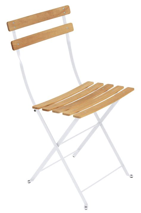 chaise bistrot metal bistro folding chair metal wood cotton white wood by