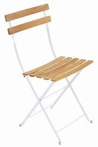 Chaise Bois Blanc : chaise pliante bistro m tal bois blanc coton bois fermob ~ Teatrodelosmanantiales.com Idées de Décoration