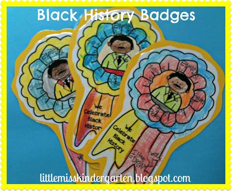 miss kindergarten lessons from the 504 | Black History Badges