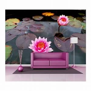 Papier Peint Geant : papier peint g ant d co n nuphar 250x360cm art d co stickers ~ Premium-room.com Idées de Décoration