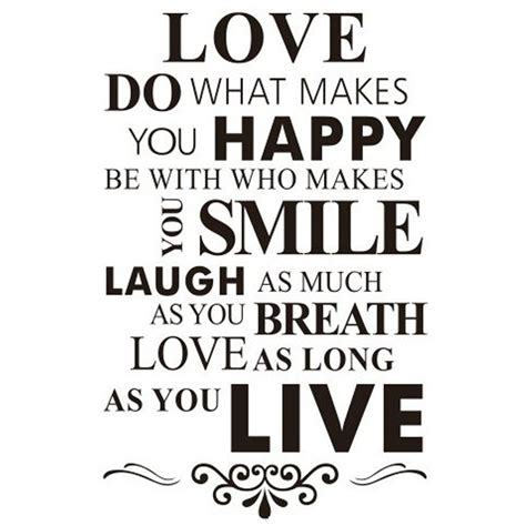 buyer house removable black white words quot smile quot words