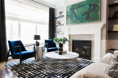 dramatic home  colorful accents   artistic feel