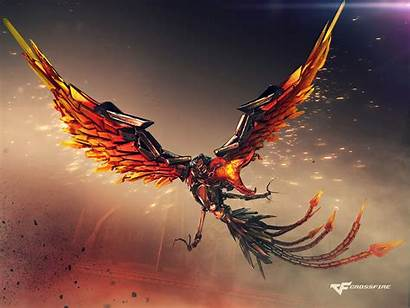Phoenix 4k Mecha Wallpapers Crossfire Bird Resolution